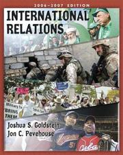 Cover of: International Relations, 2006-2007 Edition (with International Relations Study Card) (7th Edition) (MyPoliSciLab Series) | Joshua S. Goldstein