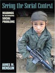 Cover of: Seeing the Social Context | James M. Henslin