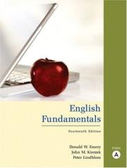 Cover of: English Fundamentals, Form A (with MyWritingLab) (14th Edition) | Donald W. Emery