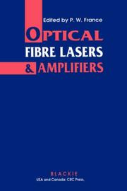 Cover of: Optical Fibre Lasers and Amplifiers