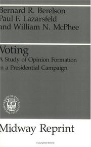 Cover of: Voting