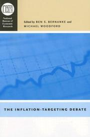 Cover of: The Inflation-Targeting Debate (National Bureau of Economic Research Studies in Income and Wealth) |