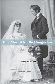 Cover of: One Must Also Be Hungarian