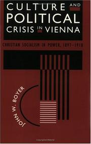 Cover of: Culture and Political Crisis in Vienna