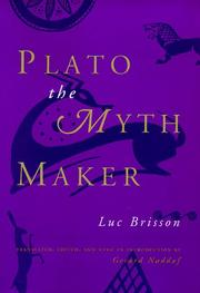 Cover of: Plato the myth maker