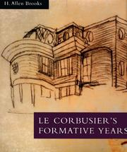 Cover of: Le Corbusier's formative years