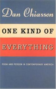One kind of everything by Dan Chiasson