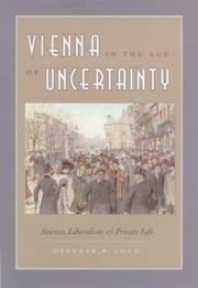 Cover of: Vienna in the Age of Uncertainty