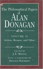 Cover of: The philosophical papers of Alan Donagan