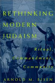 Cover of: Rethinking Modern Judaism