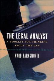 Cover of: The Legal Analyst | Ward Farnsworth