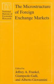 Cover of: The microstructure of foreign exchange markets