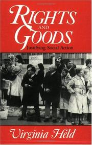 Cover of: Rights and goods | Virginia Held
