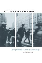 Cover of: Citizens, cops, and power