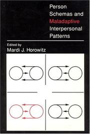 Cover of: Person schemas and maladaptive interpersonal patterns
