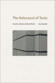 The holocaust of texts by Amy Hungerford