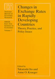 Cover of: Changes in Exchange Rates in Rapidly Developing Countries |