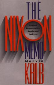 Cover of: The Nixon memo