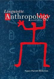 Cover of: Linguistic anthropology