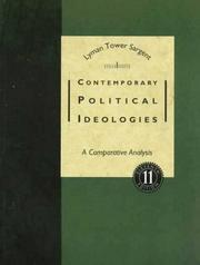 Cover of: Contemporary political ideologies | Lyman Tower Sargent