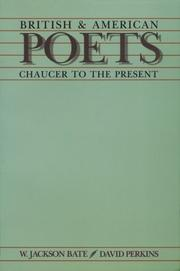 Cover of: British & American poets | W. Jackson Bate, David Perkins.