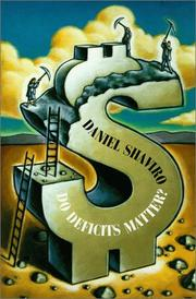 Cover of: Do Deficits Matter? | Daniel Shaviro