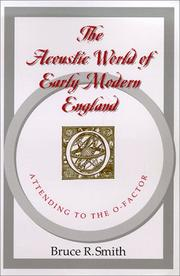 Cover of: The acoustic world of early modern England