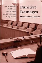 Cover of: Punitive Damages: How Juries Decide