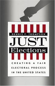 Cover of: Just Elections