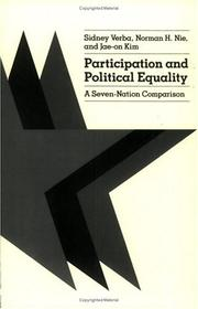 Cover of: Participation and political equality