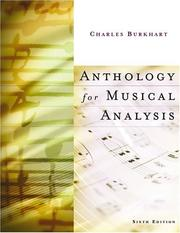 Anthology for Musical Analysis by Charles Burkhart