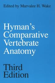 Cover of: Comparative vertebrate anatomy