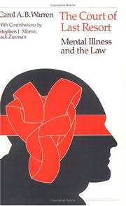 Cover of: The court of last resort: Mental Illness and the Law