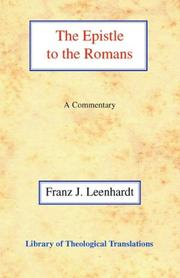 Cover of: The Epistle to the Romans (Library of Theological Translations)