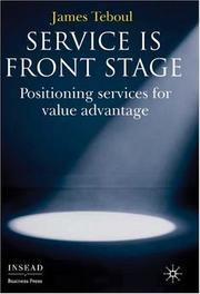 Cover of: Service Is Front Stage | James Teboul