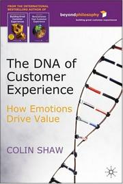 The DNA of Customer Experience by Colin Shaw