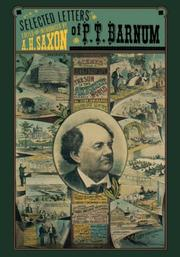 Cover of: Selected letters of P. T. Barnum