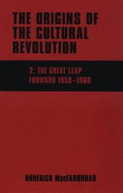 Cover of: The Origins of the Cultural Revolution, Volume 2