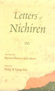 Cover of: Letters of Nichiren