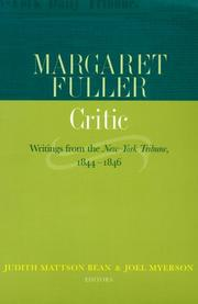 Cover of: Margaret Fuller, critic