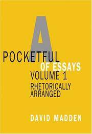 Cover of: Pocketful of Essays, Volume I