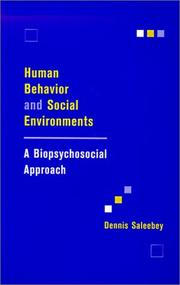 Cover of: Human Behavior and Social Environments | Dennis Saleebey