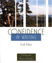Cover of: Confidence in writing