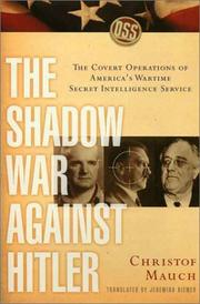 Cover of: The Shadow War Against Hitler
