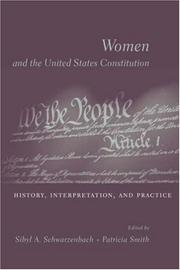 Cover of: Women and the U.S. Constitution |