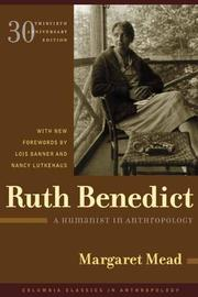 Cover of: Ruth Benedict