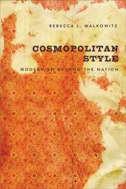 Cover of: Cosmopolitan Style | Rebecca L. Walkowitz