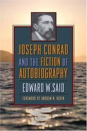 Cover of: Joseph Conrad and the fiction of autobiography