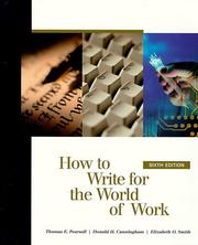 Cover of: How to write for the world of work