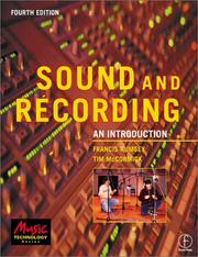 Cover of: Sound and Recording | Francis Rumsey